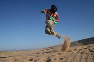 inflatable guitar jump
