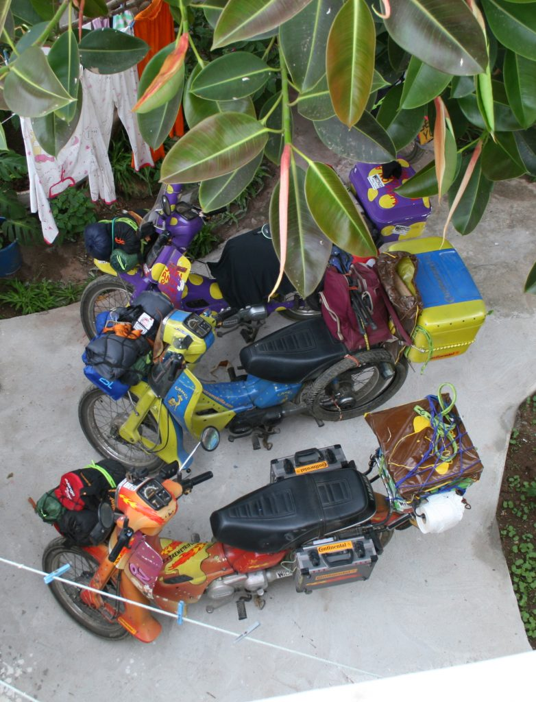 Mopeds packed